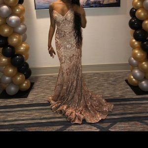 Rose Gold Jovani Prom/Evening Dress